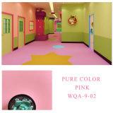 Anti-Slip Fireproof Vinyl Plastic Floor Pink Covering Roll Flooring