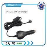 5V 2.1A Car Charger with Spring Cable Micro Plug for Samsung iPhone