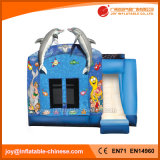 Inflatable Jumping Moonwalk Dolphin Combo with Slide (T3-101)