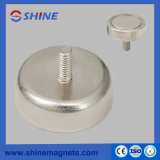 Pot Magnet with Threaded Stud RPM-C36
