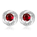 Red Zicron Popular Ear Stud Jewelry