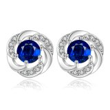 Blue Zicron Fashion Silver Plated Girls Jewelry