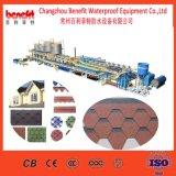 Manufacturer Supply Round Shape Plain Fiberglass Asphalt Roofing Shingle Production Line for Sale