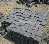 China Yellow Grey Black Granite Cobblestone