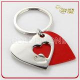 Creative Design Heart Enamel Charm Metal Keyholder