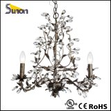 Iron Black Antique Small Crystal Chandelier