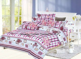 Printed Pattern Poly/Cotton King Fitted Bedspread Patchwork Bedding Set