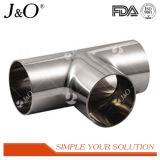 Sanitary Stainless Steel Equal Tee with Welding Tube Pipe Fittings