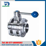 Stainless Steel Hygienic Three Pieces Butterfly Valve