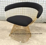Metal Leisure Restaurant Cushion Outdoor Steel Wire Chair