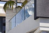 Glass Guardrail for Balcony/Porch/Decking with Top Handrail