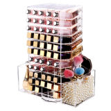Transparent Acrylic 360 Degree Rotating Lipstick Super Large Storage Box