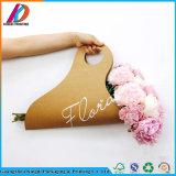 Disposable Die Cut Portable Paper Sleeves Kraft Paper Flower Gift Packaging