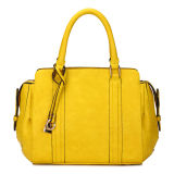 Top Handle Yellow Stylish Woman Leather Handbags (MBNO035062)