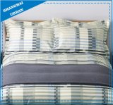 Stripe Color-Shade Printed Cotton Duvet Cover Set