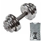 Dumbbell, Adjustable Dumbbell Set, Casted Dumbbell with Plastic Box (B09104)