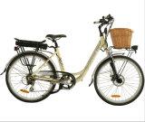 Comely City E-Bike with Rattan Basket (JB-TDF11Z)