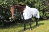 Summer Ripstop Poly Cotton Horse Rug 5′0-7′0 (NEW-07) White/Grey