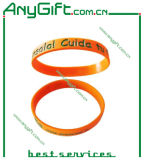 Silicon Wristband with Debossed Color Infilled Logo (LAG-WB-04)