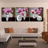 3 Piece Modern Wall Art Printed Painting Flowers Painting Room Decor Framed Art Picture Painted on Canvas Home Decoration Mc-233