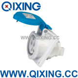 Cee IP44 16A 3p Angle Blue Industrial Socket (QX1463)