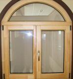 Australia Solid Larch/Pine Wood Aluminum Casement Window