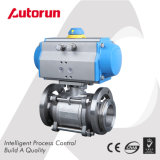 Pneumatic 3 Pieces Vacuum Ball Valve
