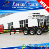 2/3 Axle Skeletal Flatbed Container Semi Trailer 40FT Container Chassis