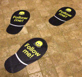 Low Price Custom Promotion Waterproof Floor Footprint Print Stickers