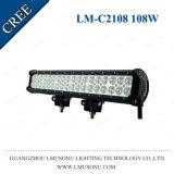 Lmusonu 20 Inch Waterproof Offroad Trucks Tractor Straight Light LED Bar 108W