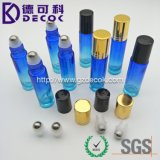 10ml Ocean Blue and Sea Green Roller Glass Bottles with Metal Ball