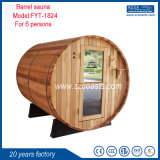 Barrel Sauna Outdoor Sauna Room Red Cedar 6 Person Saunas