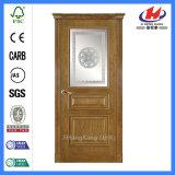 MDF Fiberglass Solid Wood Frosted Door (JHK-FD04)