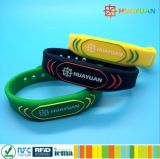 13.56MHz HF MIFARE Classic 1K Adjustable Silicone RFID Wristband