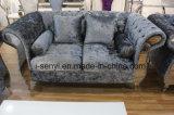 Modern Italian Living Room Furniture Hotel Reception Stainless Steel Leg Sofa 2 Seat