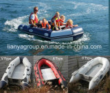 Liya 2-8meter China PVC Inflatable Boat with Outboard Motor