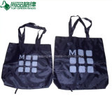 Cheap 190t 210d Foldable Fold-up shopping Tote Bag Light Fold up Carrier Bags