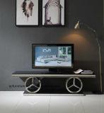Italian Design Silver Mirror Stainless Steel Modern TV Stand