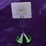 Crystal Memo Card Holder of Table Number Stand Wedding Favor