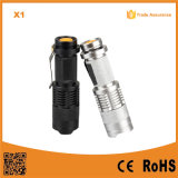Promotion Mini Zoom CREE XP-E R2 LED Flashlight (Poppas-X1)