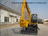 China Hot Sale 0.3m3 Bucket/Grasper Small Wheel Excavators