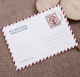 White Kraft Paper Airmail Letter Post Envelope