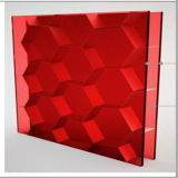 Red Color Acrylic Honeycomb Panel for Furniture/Reception Decoration