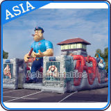 Inflatable Alcatraz Obstacle Course/Inflatable Jail Obstacle Course