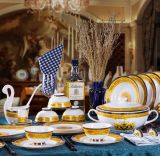 Luxury Fine Bone China Dinnerware for Events Use