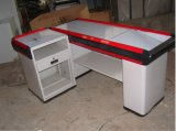 Supermarket Electrical Check-out Counter with Convery Belt for Money Desk