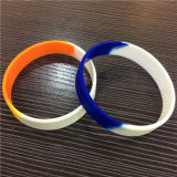 Customize Children Promotion Gifts Segmented Color Silicone Wristbands