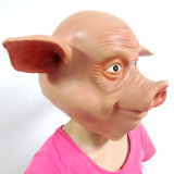 Full Head Realistic Carnival Latex Mask Pig Overhead Mask