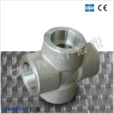 Nickel Alloy Forged Socket Welding Fitting Cross A249 Uns N08904