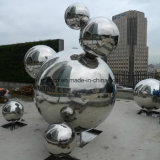 Custom Stainless Steel Ball Outdoor Metal Sculpture for Shopping Mall